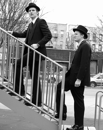 The Two Man Gentlemen Band ascending.